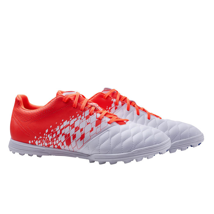 Adult Hard Ground Football Boots Agility 500 - White/Red