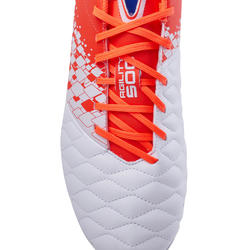 Adult Mixed Ground Football Boots Agility 500 - Red/White