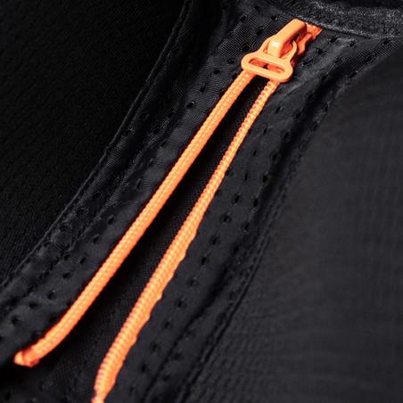 Skriešanas sporta krūšturis ar rāvējslēdzēju, melns/oranžs