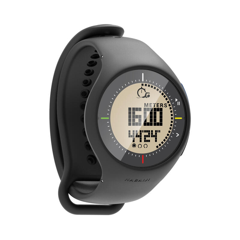 Reloj Natación Piscina SL500 Negro Distancia Largos Cronómetro