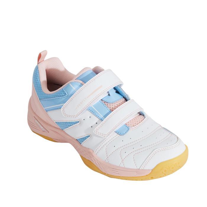 兒童款輕量羽球鞋BS 560白色及粉紅配色