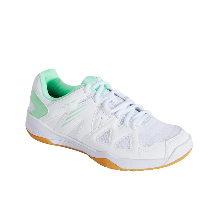 WOMEN BADMINTON SHOES BS 530 WHITE GREEN