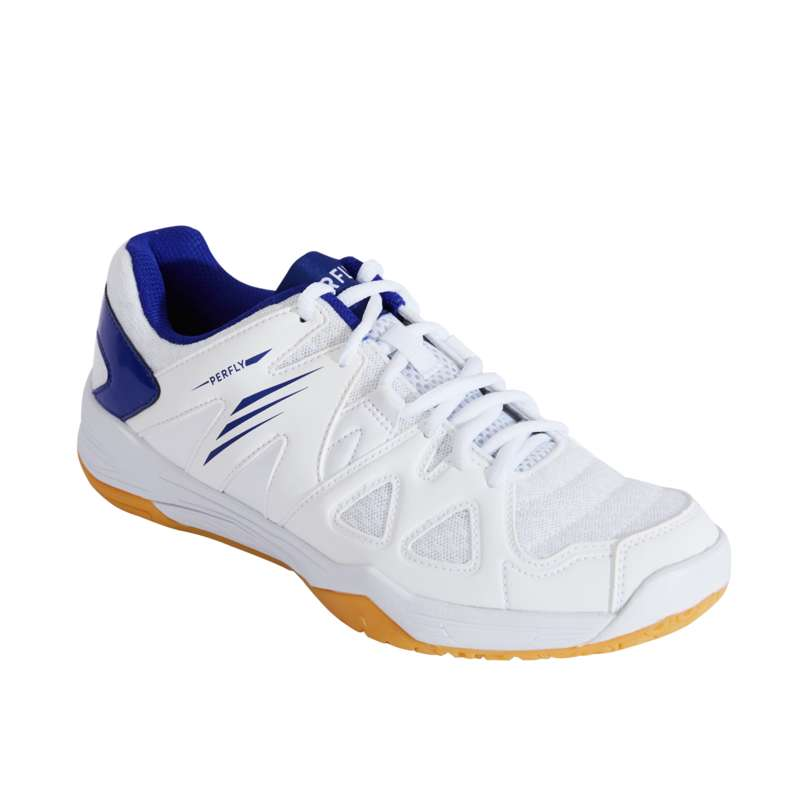 WOMEN'S INTERMEDIATE BADMINTON SHOES Table Tennis - BS 530 W WHITE BLUE PERFLY - Table Tennis