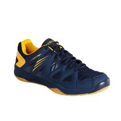 MEN BADMINTON SHOES BS 530 NAVY BLUE YELLOW