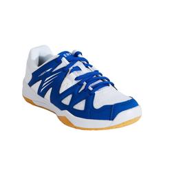 JUNIOR BADMINTON SHOES BS 500 WHITE BLUE