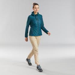 Casaco de caminhada NH100 Híbrido - Mulher Azul