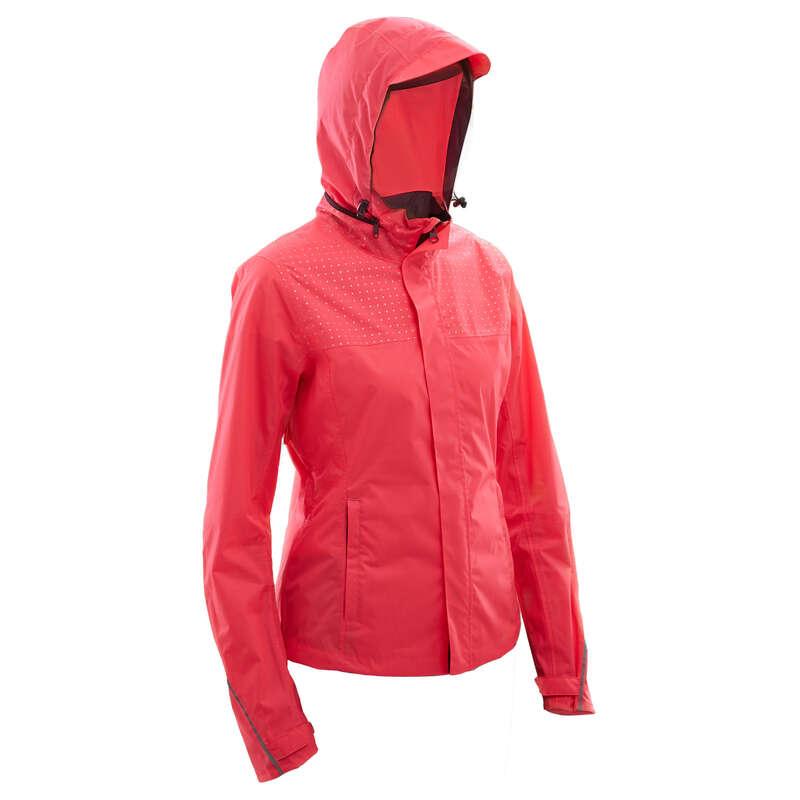 RAIN WEATHER CITY CYCLING APPAREL & ACC - 100 Women's Waterproof Urban Cycling Jacket - Pink BTWIN