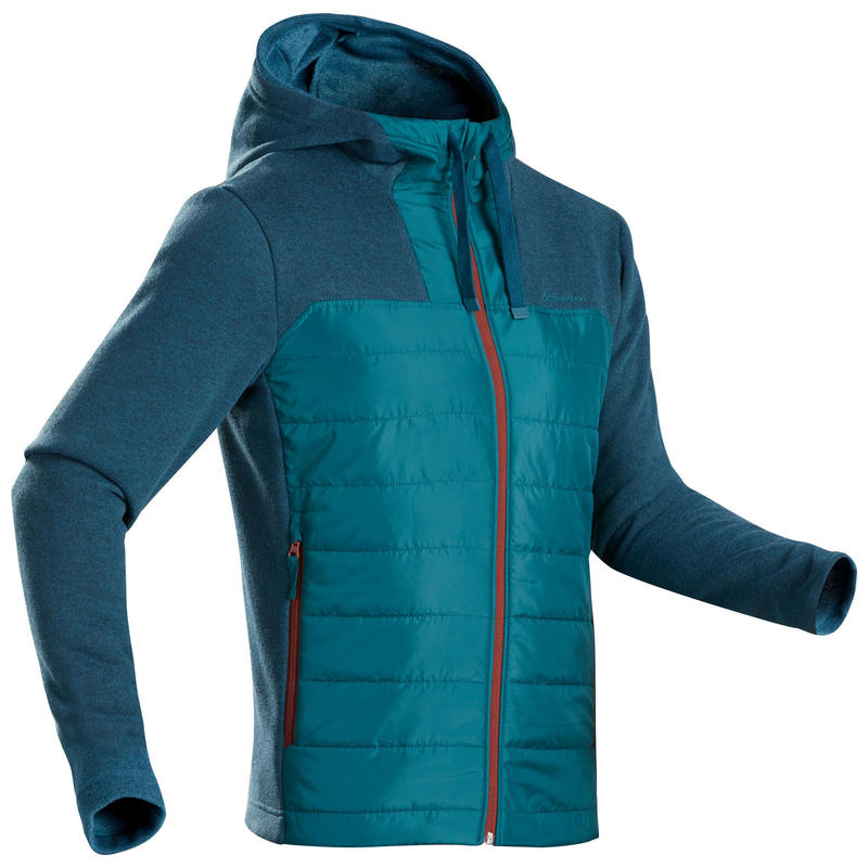 Men's Hiking Hooded Sweatshirt - NH100 Hybrid