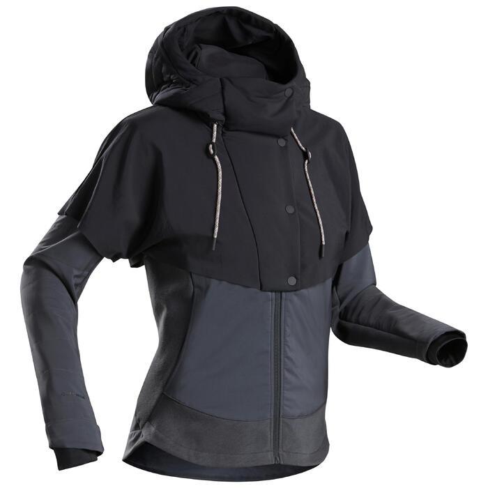 Hybride jas voor wandelen dames NH500 zwart