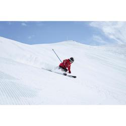 搭配固定器BOOST 500的兒童下坡滑雪板 - 紅色