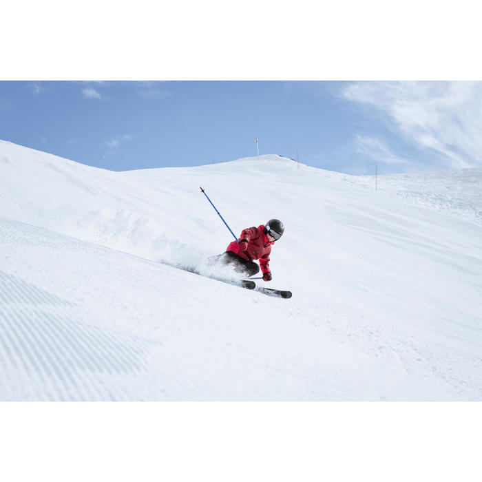 CHILDREN'S DOWNHILL SKIS WITH BOOST 500 BINDINGS - RED