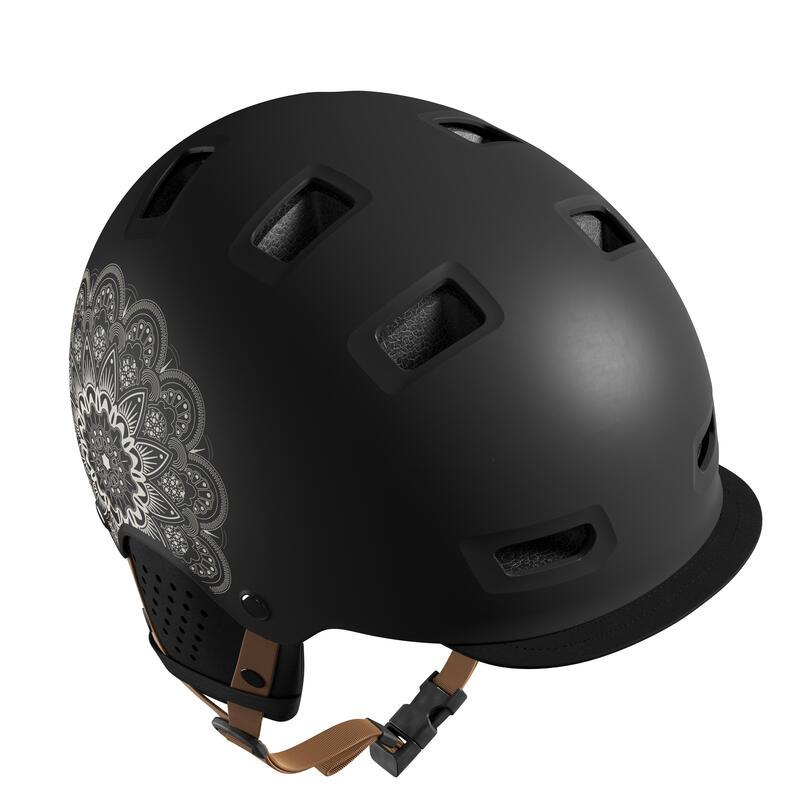 Cycling Bowl City Bike Helmet 500 - Graphic Black