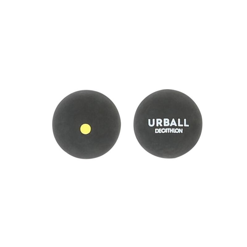 Pelotes Pala Gomme Pleine Noire (balles) GPB 500 Point Jaune (x2)