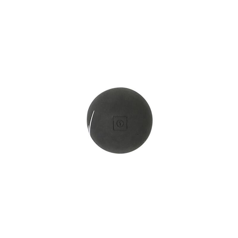 Pelote noire point blanc balle gomme pleine