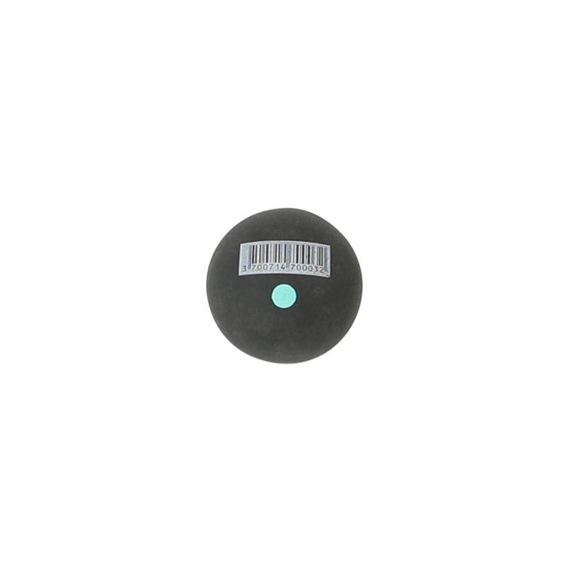 Pelote noire point vert balle gomme pleine