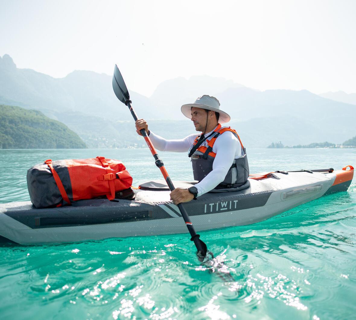 pagaie technique kayak