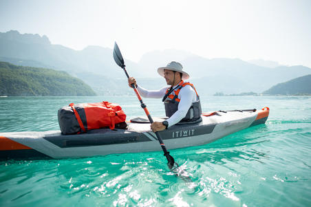 Kayak inflable Itiwit Drop Stitch alta presión Strenfit X500 1lugar Piragüismo.