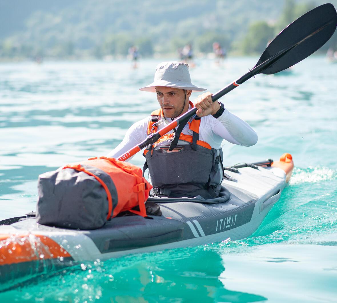 correct paddle position kayak