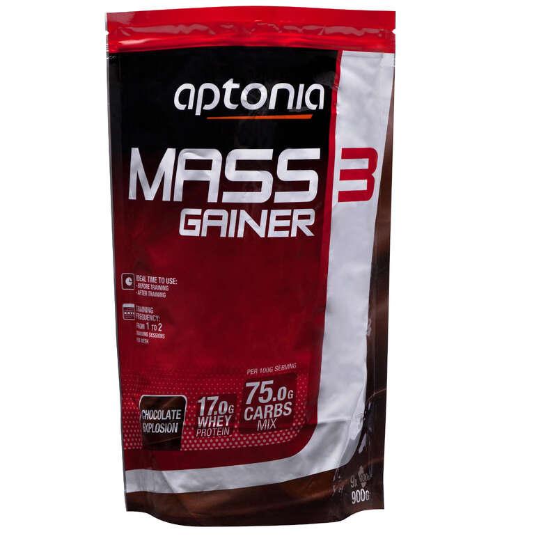 PROTEÍNAS E SUPLEMENTOS ALIMENTARES Cross-Training, Treino Funcional - Pó MASS GAINER3 chocolate 900g DOMYOS - Desenvolvimento e Manutenção Muscular