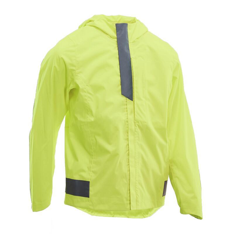 Giacca impermeabile ciclismo bambino 500 gialla