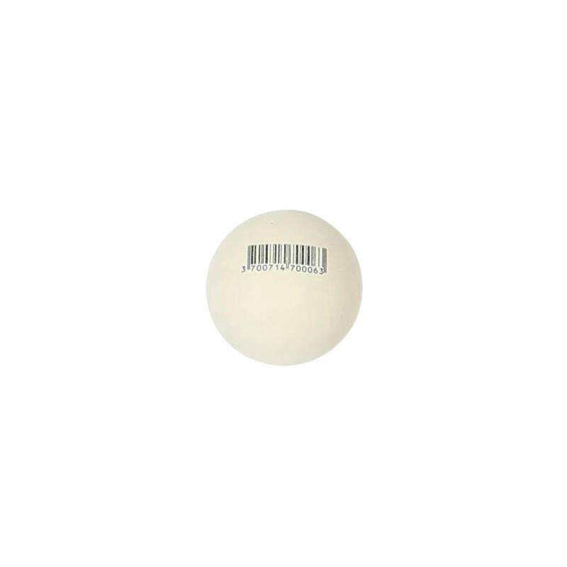 Pelote blanche point blanc balle gomme pleine