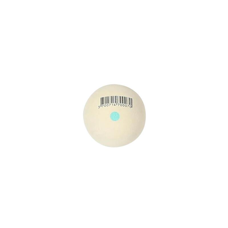 Pelote blanche point vert balle gomme pleine