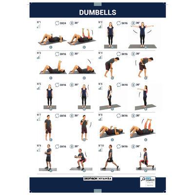 Mancuernas Vinilo 2 x 3kg. Fitness Gym Pilates Nyamba gris