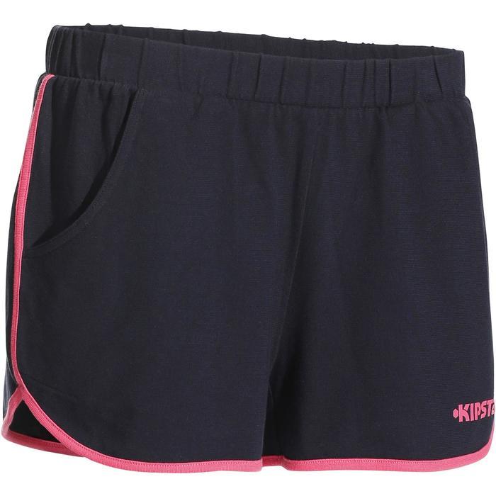 Pantalón corto de voleibol mujer V100 azul oscuro rosa