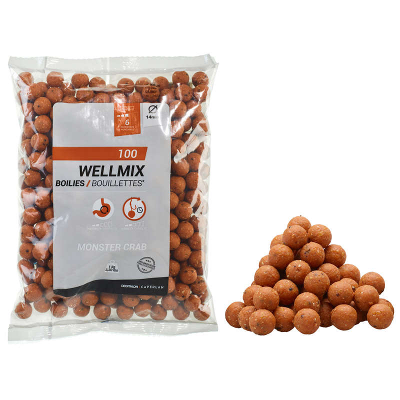 MOMELI CRAP Pescuit - Wellmix 14 mm 1kg Monstercrab CAPERLAN - Nade, Echipament nadire