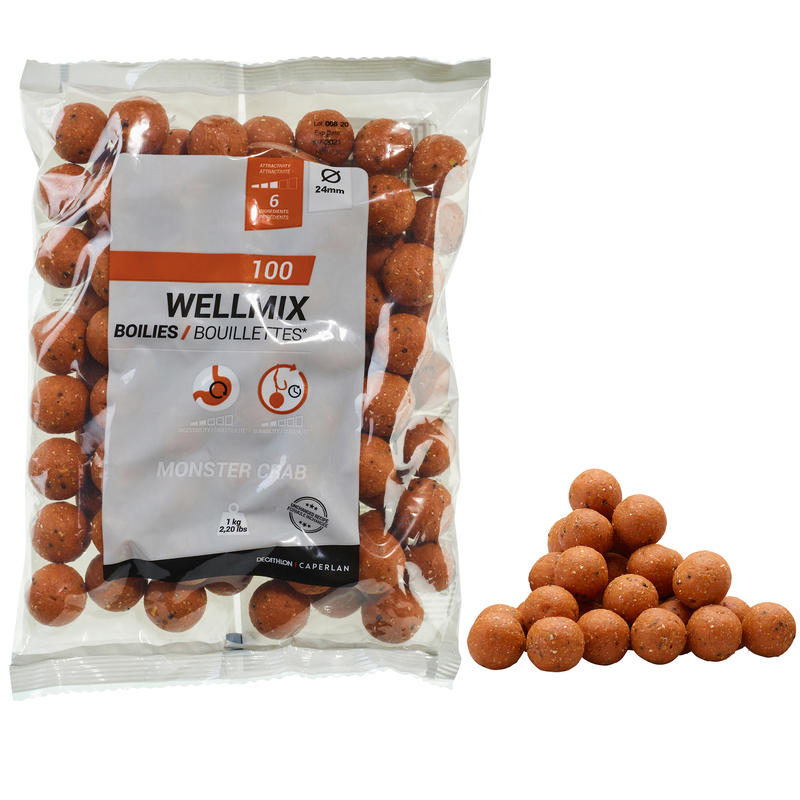 WELLMIX 24 MM MONSTERCRAB 1 KG CARP FISHING BOILIE