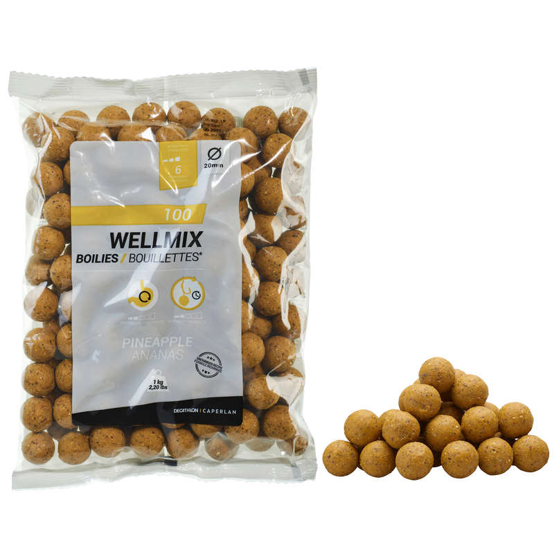CARP BAITS, BAITING EQUIPEMENT Fishing - WELLMIX BOILIES PINEAPPLE 1 KG CAPERLAN - Carp Fishing