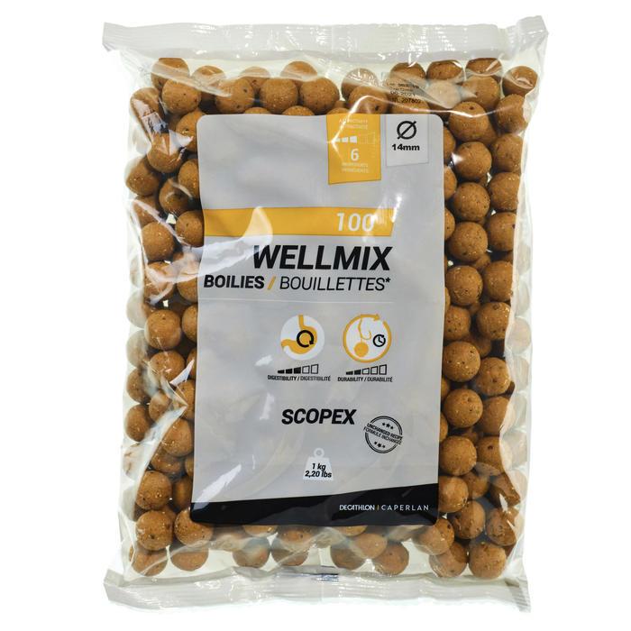 Wellmix Boilies Scopex 14mm 1kg