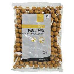 Boilies karpervissen Wellmix 14 mm ananas 1 kg