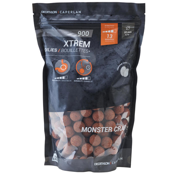 Boilies voor karpervissen Xtrem 900 20 mm 1 kg Monstercrab