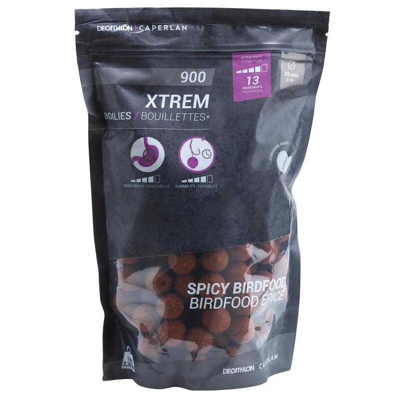 Boilies voor karpervissen Xtrem 900 20 mm spicy 1 kg