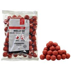 Boilies voor karpervissen Wellmix 24 mm aardbei 1 kg