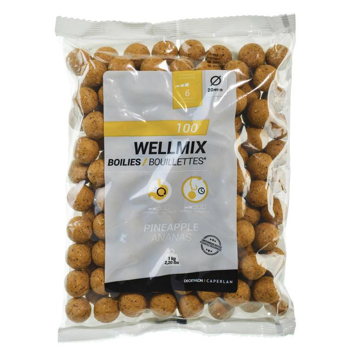 Boilies voor karpervissen Wellmix ananas 1 kg