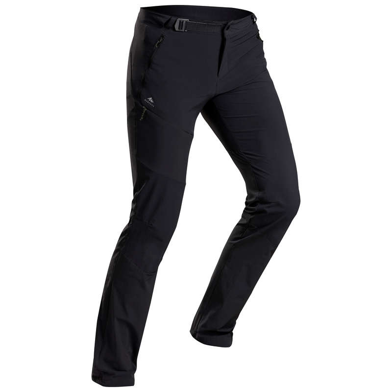 MEN MOUNTAIN HIKING TEE SHIRTS, PANTS Hiking - Men's trousers MH500 - Black QUECHUA - Hiking Clothes