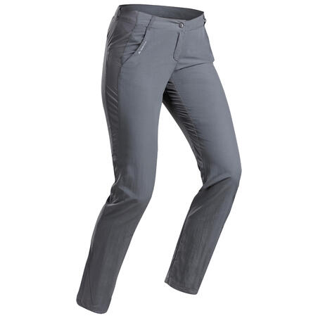 Women's MH100 mountain hiking trousers – Dark Grey