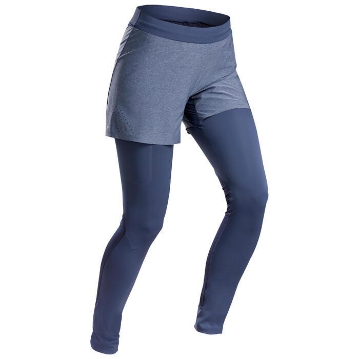 女款極速健行緊身短褲FH 900-藍色