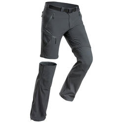Men's Hiking Pants MH550 (Modular) - Grey