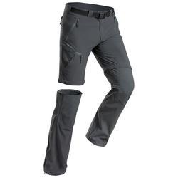 Zip-Off-Hose Wanderhose Bergwandern MH550 Herren grau