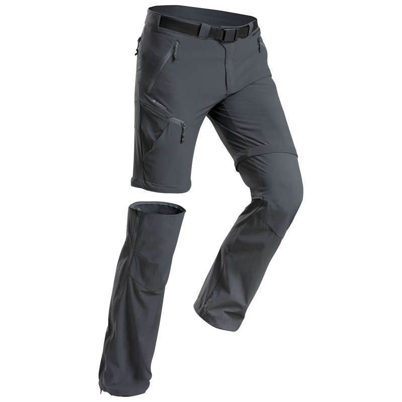 MEN MOUNTAIN HIKING TEE SHIRTS, PANTS Hiking - M conv. trousers MH550 Grey  QUECHUA - Hiking Clothes