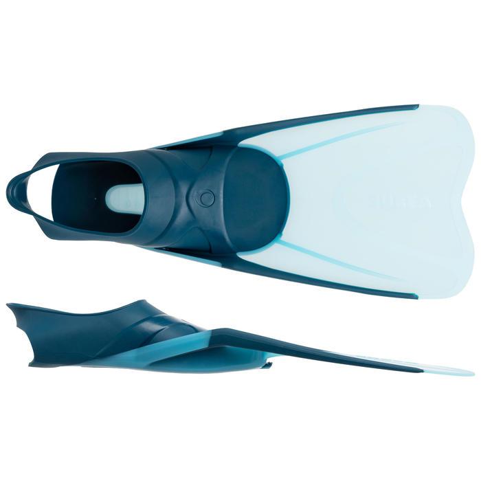 Set met snorkelvinnen en snorkelmasker SNK 500 Ad blauw