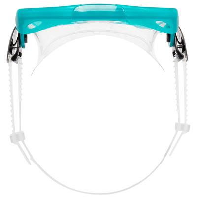 Kit palmes masque tuba de snorkeling SNK 500 Ad menthe pastel