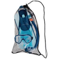 Snorkelset met duikbril, zwemvliezen en snorkel SNK 500 Ad blauw