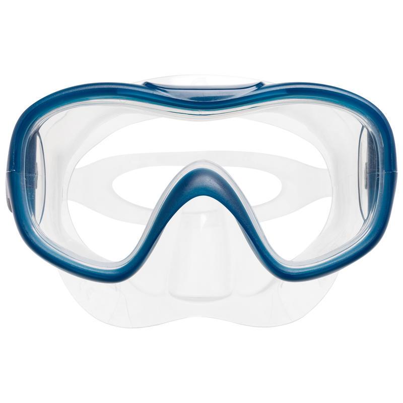 ชุดหน้ากากดำน้ำและท่อหายใจสำหรับเด็กรุ่น SNK 500 (สีฟ้า Turquoise)