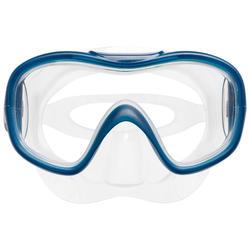 Set met snorkelvinnen en snorkelmasker SNK 500 kinderen turquoise