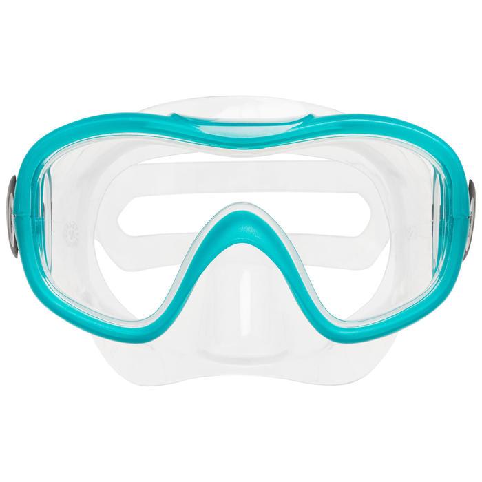 Máscara, Tubo e Barbatanas de snorkeling SNK 500 Adulto menta pastel (conjunto)