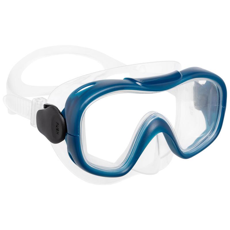 Kit palmes masque tuba de snorkeling SNK 500 enfant turquoise